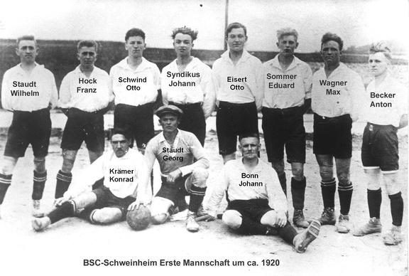 BSC 1.Mannschaft um 1920